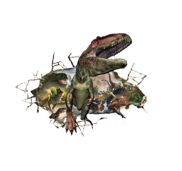 Dinosaur World 3D Window Sticker Wall Sticker
