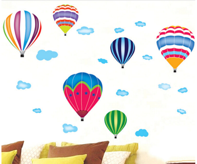 Hot Air Balloon Window Sticker Wall Sticker
