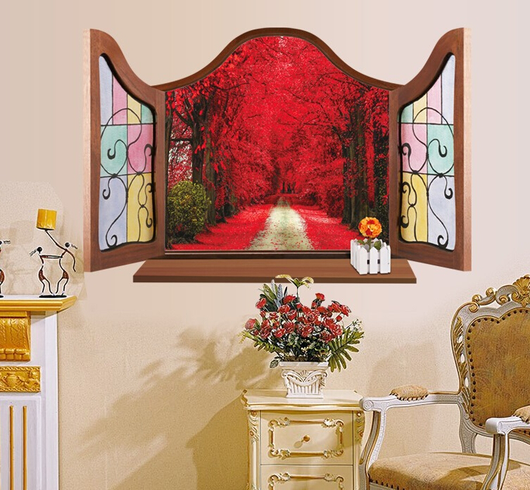 Maple Grove 3D Window Sticker Wall Sticker