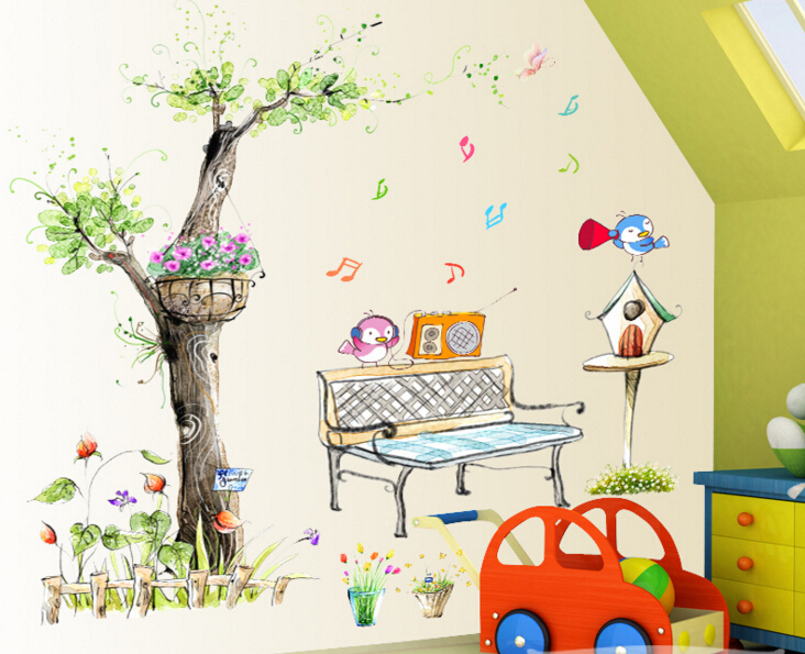 Back To The Garden 3D Window Sticker Wall Sticker