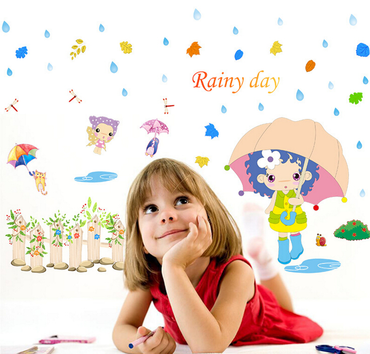 Rainy Day 3D Window Sticker Wall Sticker
