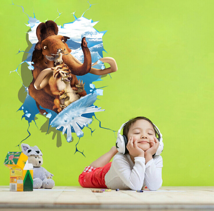Ice Age 3D Window Sticker Wall Sticker