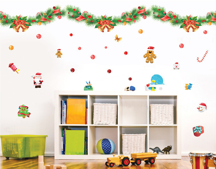 Christmas Color Banner Window Sticker Wall Sticker