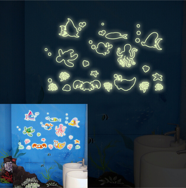 Seabed World Glow In The Dark Wall Sticker