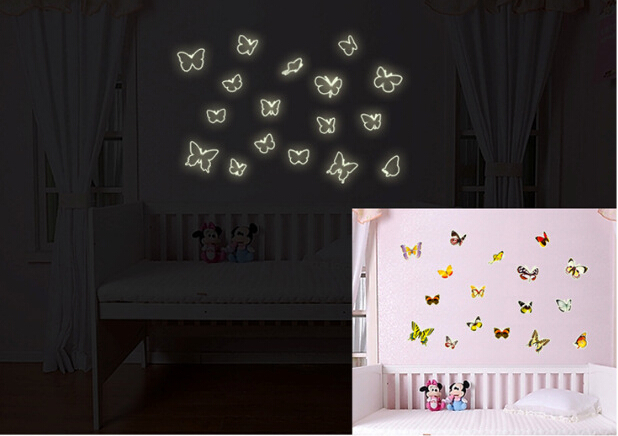 Butterfly Glow in The Dark Wall Sticker