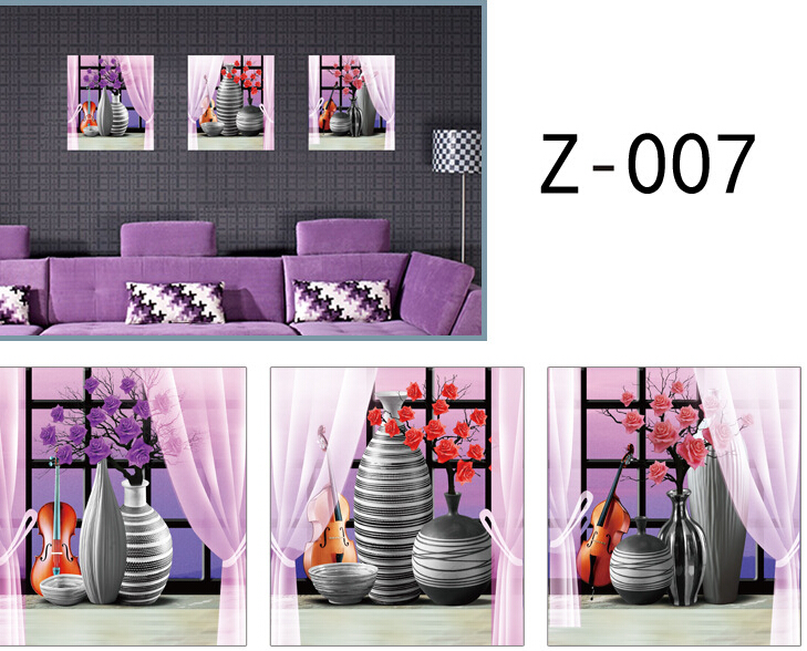 3*Vase 3D Window Sticker Wall Sticker