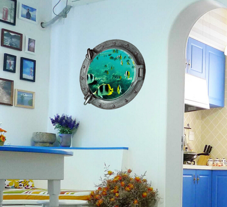 The Underwater World 3D Wall Sticker