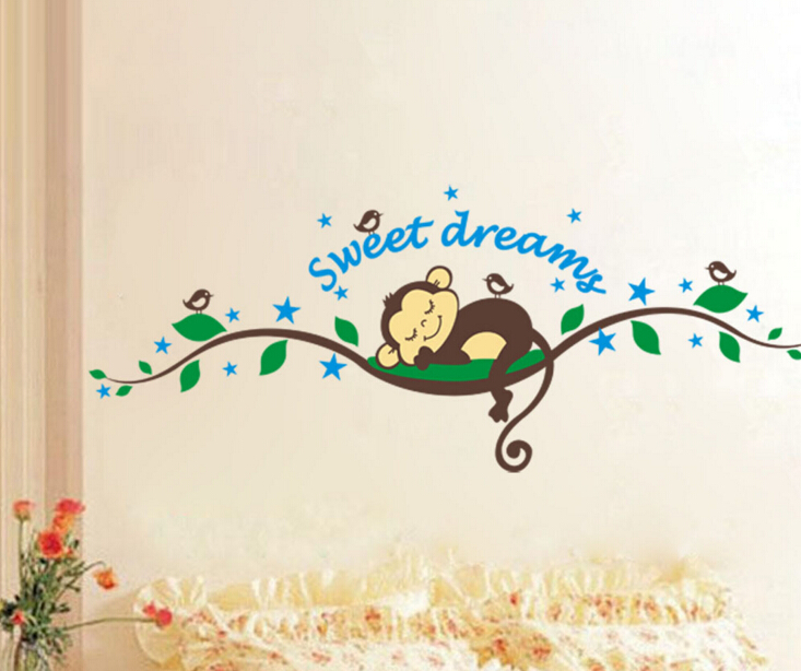 Sweet Dreams Monkey Window Sticker Wall Sticker