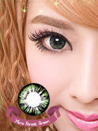 FOREST GREEN Colored Contacts (PAIR)