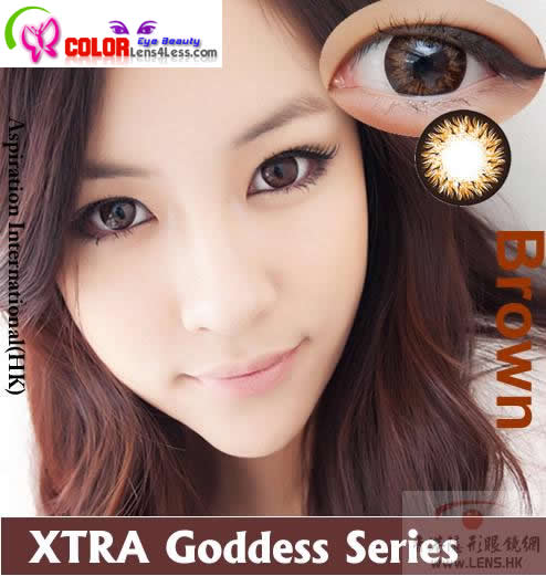 CIB Xtra Goddess Brown Colored Contacts (PAIR)